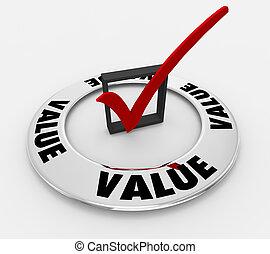 scatola, benefici, illustrazione, marchio, valore, parola, assegno, 3d