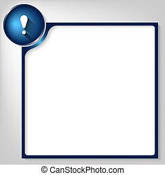 scatola blu, testo, marchio, bianco, esclamazione, qualsiasi