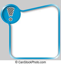 scatola blu, testo, marchio, esclamazione, qualsiasi