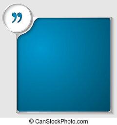 scatola, blu, testo, marchio, qualsiasi, argento, quotazione