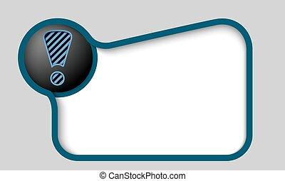 scatola blu, testo, marchio, scuro, esclamazione, qualsiasi