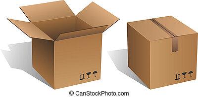 scatola, cartone