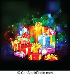 scatola, colorito, regalo