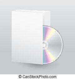 scatola, disco, aperto, vuoto