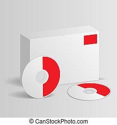 scatola, disco, vuoto, software