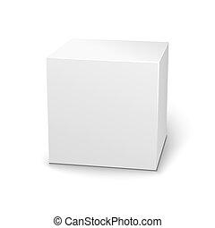 scatola, fondo, vuoto, bianco, uggia, 3d