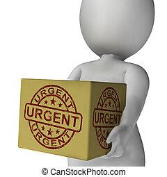 scatola, giunco, francobollo, consegne, urgente, veloce, mostra