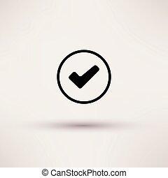 scatola, illustration., isolato, vettore, assegno, icona