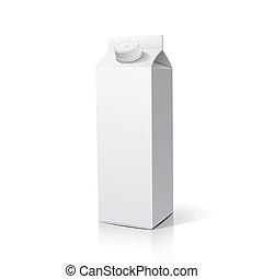 scatola, imballaggio, latte