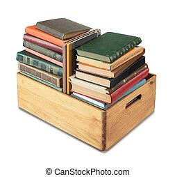 scatola, libri