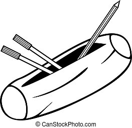 scatola, matita, (pencil, case)