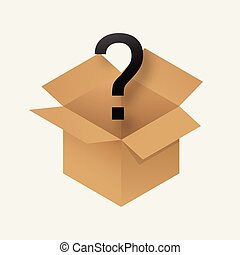 scatola, mistero, icona