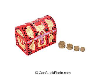 scatola, moneta