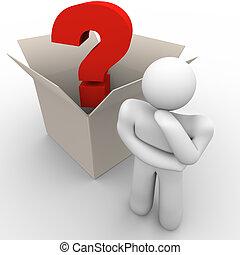 scatola, pensare, esterno