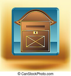 scatola, posta, icona