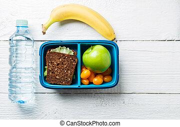 scatola, pranzo, idoneità, immagine, spuntino