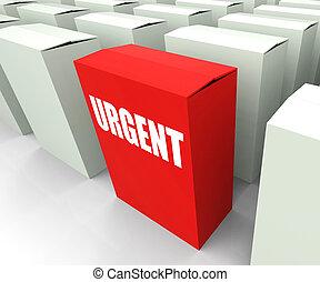 scatola, priorità, urgente, critico, refers, urgenza