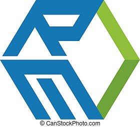 scatola, re, lettera, logotipo
