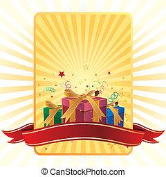 scatola, regalo, celebrazione