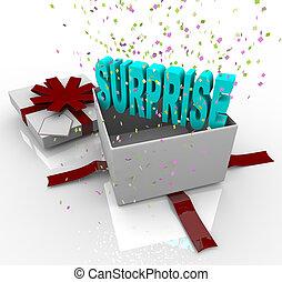 scatola, regalo, -, compleanno, sorpresa, presente, felice