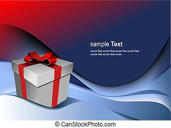 scatola, regalo, holiday., illustrazione, luminoso, vettore, qualsiasi