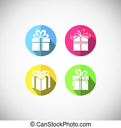 scatola, regalo, icona