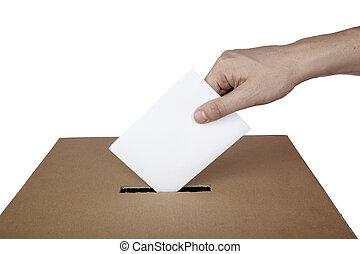 scatola, scelta, elezione, voto, politica, votazione, scheda elettorale