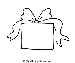scatola, schizzo, regalo