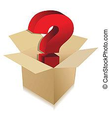 scatola, sconosciuto, concetto, contenuto