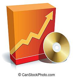 scatola, software, cd
