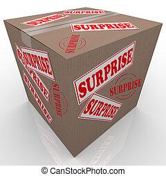 scatola, sorpresa, shipped, cartone, pacchetto
