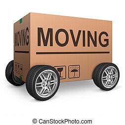scatola, spostamento