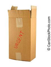 scatola, urgente, cartone