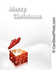 scatola, vettore, regalo, editable, fondo, facile, natale