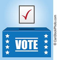 scatola, votante