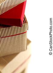 scatole, cartone, pila