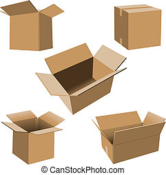scatole cartone, set