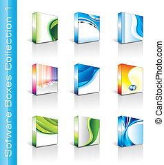 scatole, collezione, software
