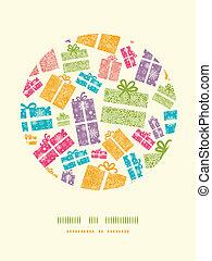 scatole, colorito, modello, decorazione, textured, fondo, regalo, cerchio