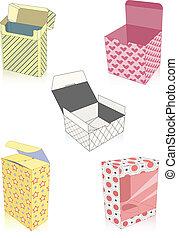 scatole, set