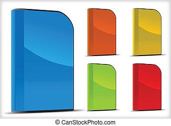 scatole, vettore, set, software