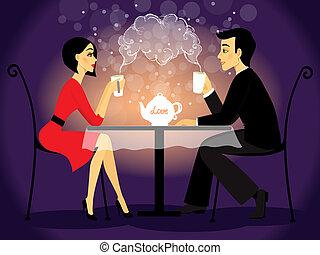scena, coppia, confessione, amore, datazione