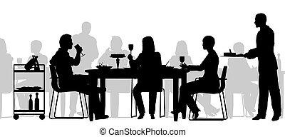 scena, ristorante