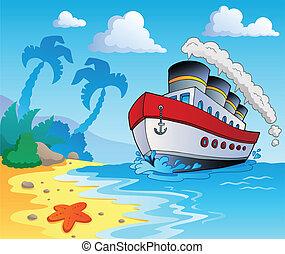 scenario, spiaggia, tema, 5