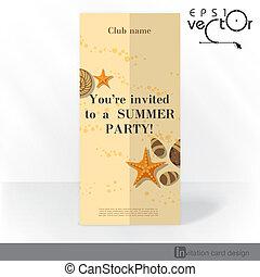 scheda, festa, disegno, sagoma, invito