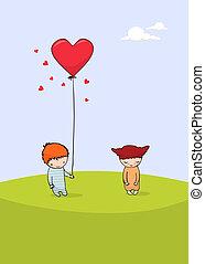 scheda giorno valentine, carino