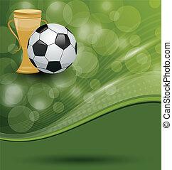 scheda, palla, premio, football