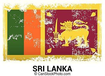 scheda, vettore, indipendenza, disegno, giorno, srilanka