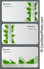 schede., illustrazione, set, regalo, vettore, natura