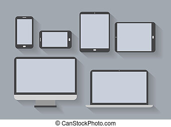 schermi, elettronico, congegni, vuoto